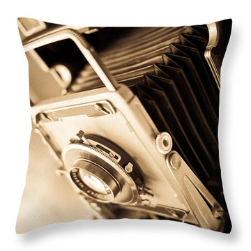 Old Press Camera Throw Pillow