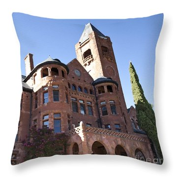 Old Preston Castle Throw Pillow by David Millenheft