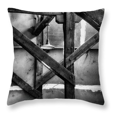 Old Rafters Throw Pillow