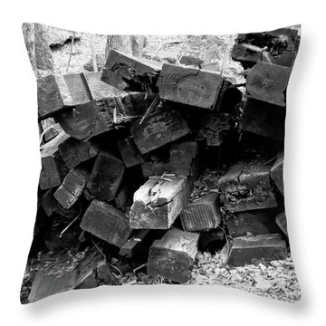 Throw Pillow featuring the photograph Old Railroad Ties by Kristen Fox