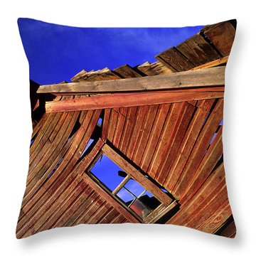 Old Red Barn Throw Pillow by Bob Christopher