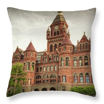 Old Red Throw Pillow