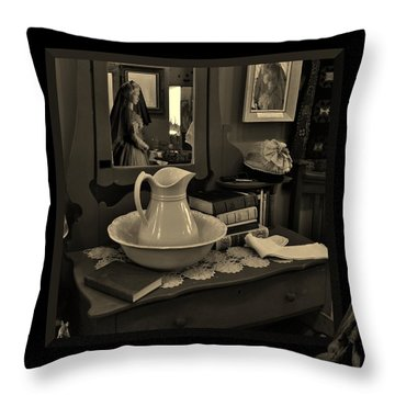 Old Reflections Throw Pillow by Barbara St Jean