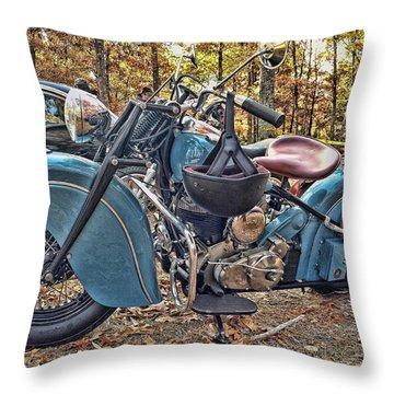 Pale Blue Rider Throw Pillow