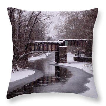 The Nifti Railroad Bridge Throw Pillow