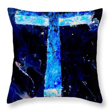 Old Rugged Cross II Throw Pillow