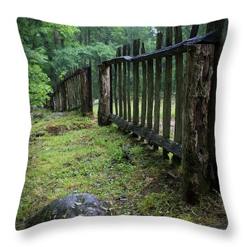 Old Rustic Fence Throw Pillow