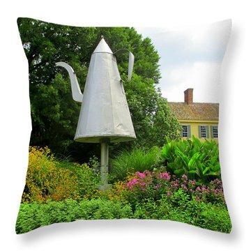 Old Salem Giant Coffee Pot Throw Pillow