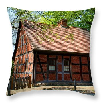 Old Salem Scene 3 Throw Pillow by Kathryn Meyer