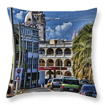 Old San Juan Cityscape Throw Pillow