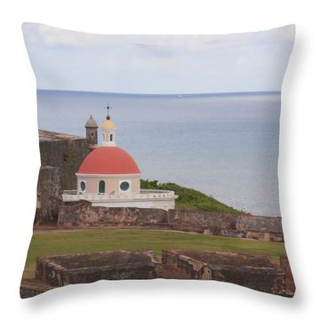 Old San Juan Throw Pillow by Daniel Sheldon