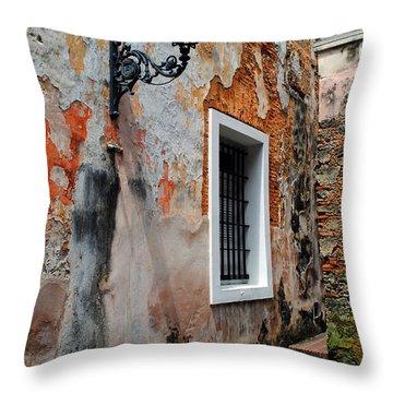 Old San Juan Jail Throw Pillow