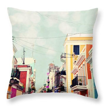 Throw Pillow featuring the photograph Old San Juan Special Request by Kim Fearheiley