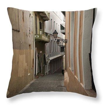 Old San Juan Street Throw Pillow