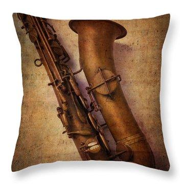 Old Sax Throw Pillow