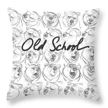 Throw Pillow featuring the digital art Old School by Aaron Blaise