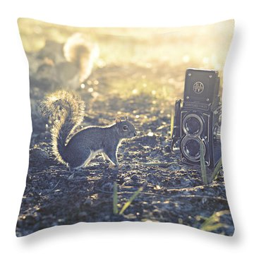 Old School Throw Pillow by Laura Fasulo
