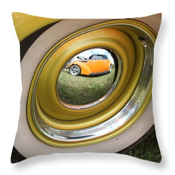 Old School Reflection Take 2 Throw Pillow