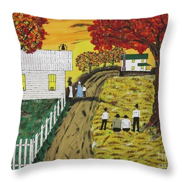 Old Schoolhouse Bell Throw Pillow by Jeffrey Koss
