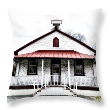 Old Schoolhouse Chester Springs Throw Pillow by Bill Cannon