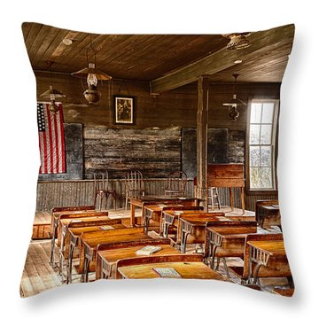 Schoolrooms Throw Pillows