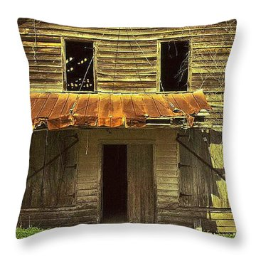 Throw Pillow featuring the photograph Old Seabrook House by Patricia Greer