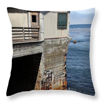 Old Shack Overlooking The Monterey Bay In Monterey Cannery Row California 5d25062 Throw Pillow