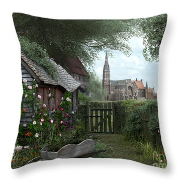 Old Shed Throw Pillow by Dominic Davison