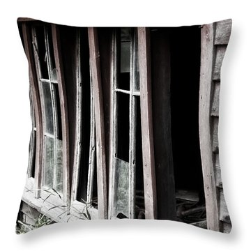 Throw Pillow featuring the photograph Old Shed by Rebecca Davis