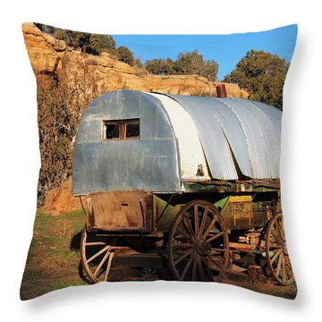 Old Sheepherder's Wagon Throw Pillow