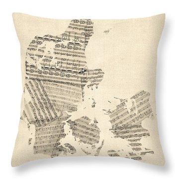 Cartography Throw Pillows