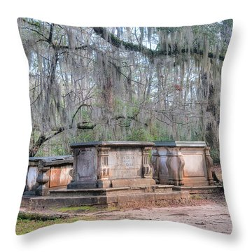 Old Sheldon Church Broken Tombs Throw Pillow