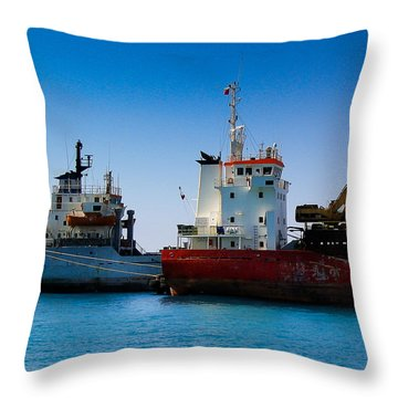 Throw Pillow featuring the photograph Old Ships by Kevin Desrosiers