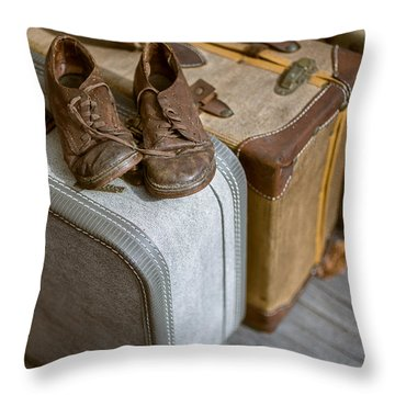 Old Shoes And Packed Bags Throw Pillow