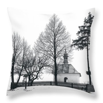 Old Shrine In Nowiny Horynieckie Throw Pillow