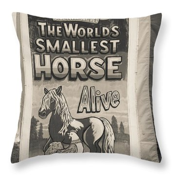 Old Sideshow Poster Throw Pillow