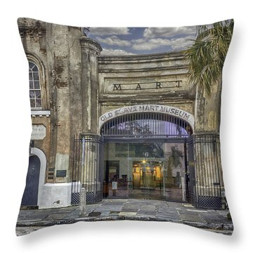 Old Slave Mart Museum Throw Pillow by Lynn Palmer