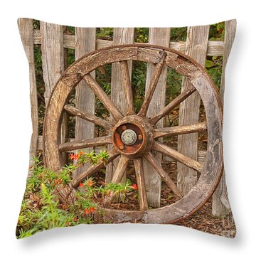 Old Spare Wheel Throw Pillow