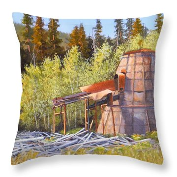 Old Sparky Throw Pillow