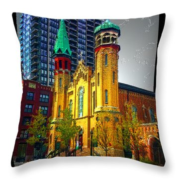 Old St Pats Throw Pillow