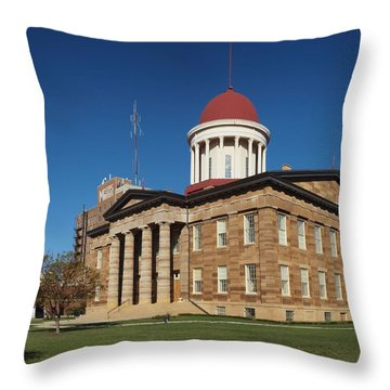 Old State Capital Springfield Illinois Throw Pillow