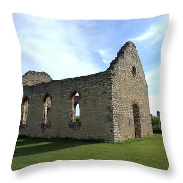 Old Stone Church 2 Throw Pillow by Bonfire Photography