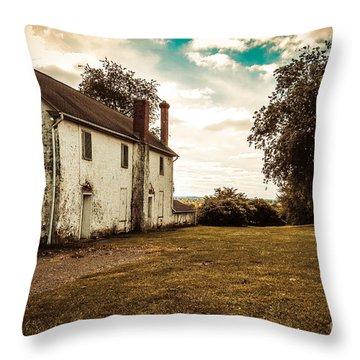 Old Stone House Throw Pillow