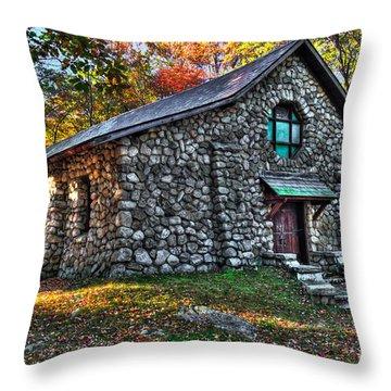 Old Stone Lodge Throw Pillow