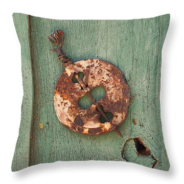Old Stove Valve Throw Pillow by Art Block Collections