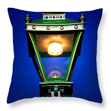Throw Pillow featuring the photograph Old Streetlamp by Craig B