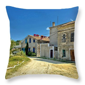Old Streets Of Susak Island Throw Pillow by Brch Photography