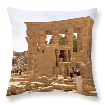 Old Structure Throw Pillow