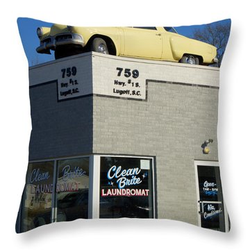 Old Studebaker Building Throw Pillow