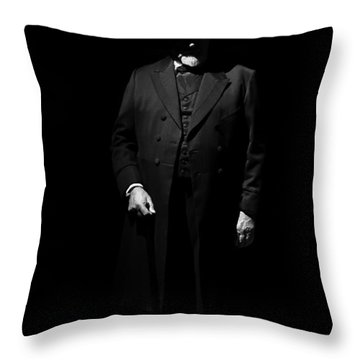 Vintage Gentlemen With Tall Hat - Style Has Not Deadline Throw Pillow